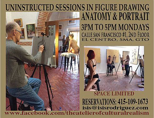 Uninstructed Life Drawing Sessions: Galeria San Francisco - Ongoing Art Workshops