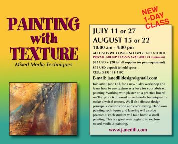 Painting with Texture with Jane Dill