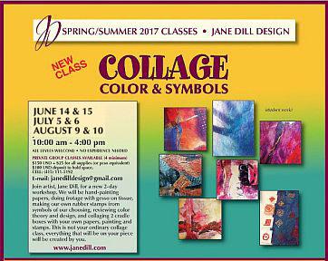 Collage, Color & Symbols Workshops with Jane Dill Design