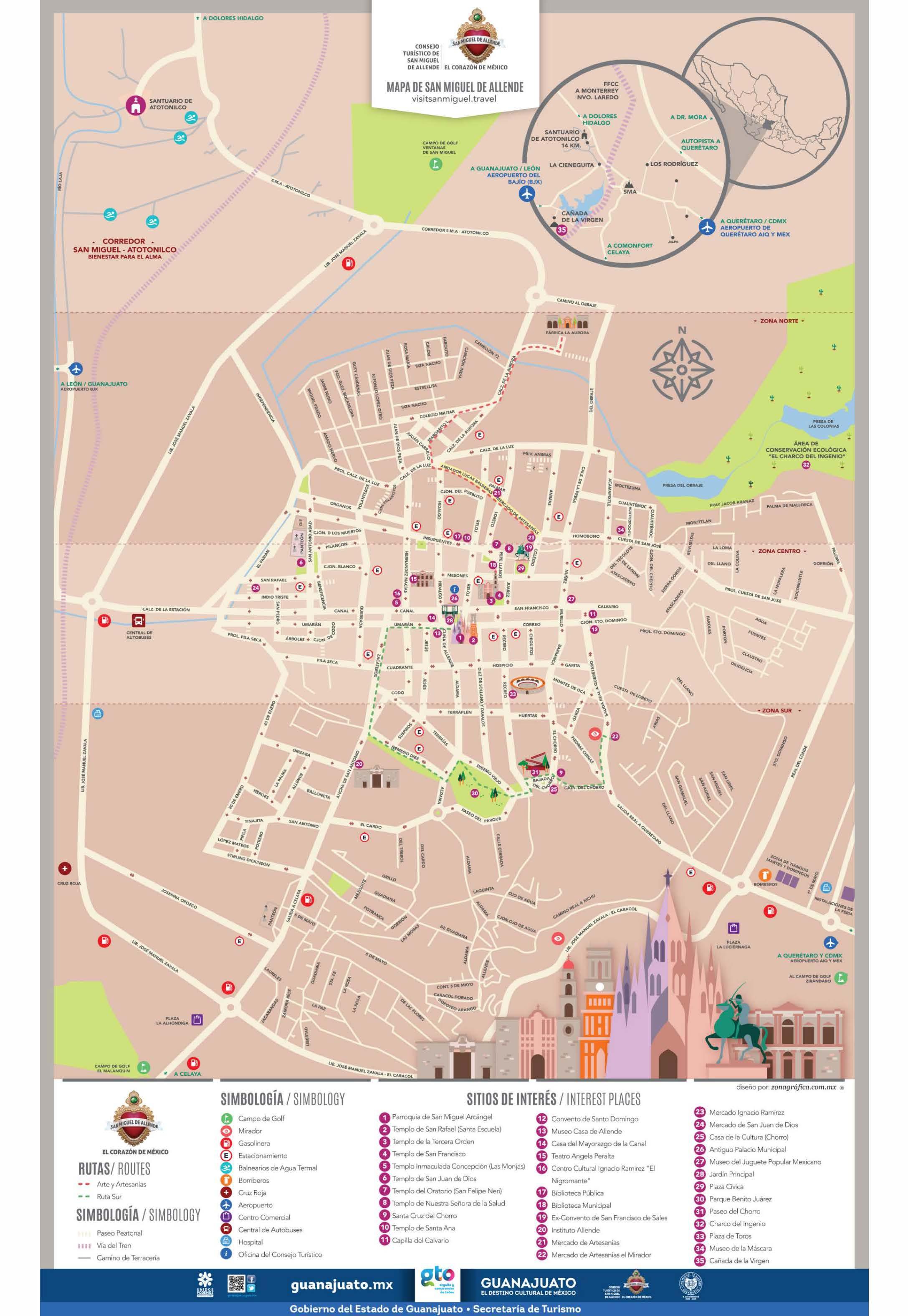 Sma Map Discover San Miguel De Allende