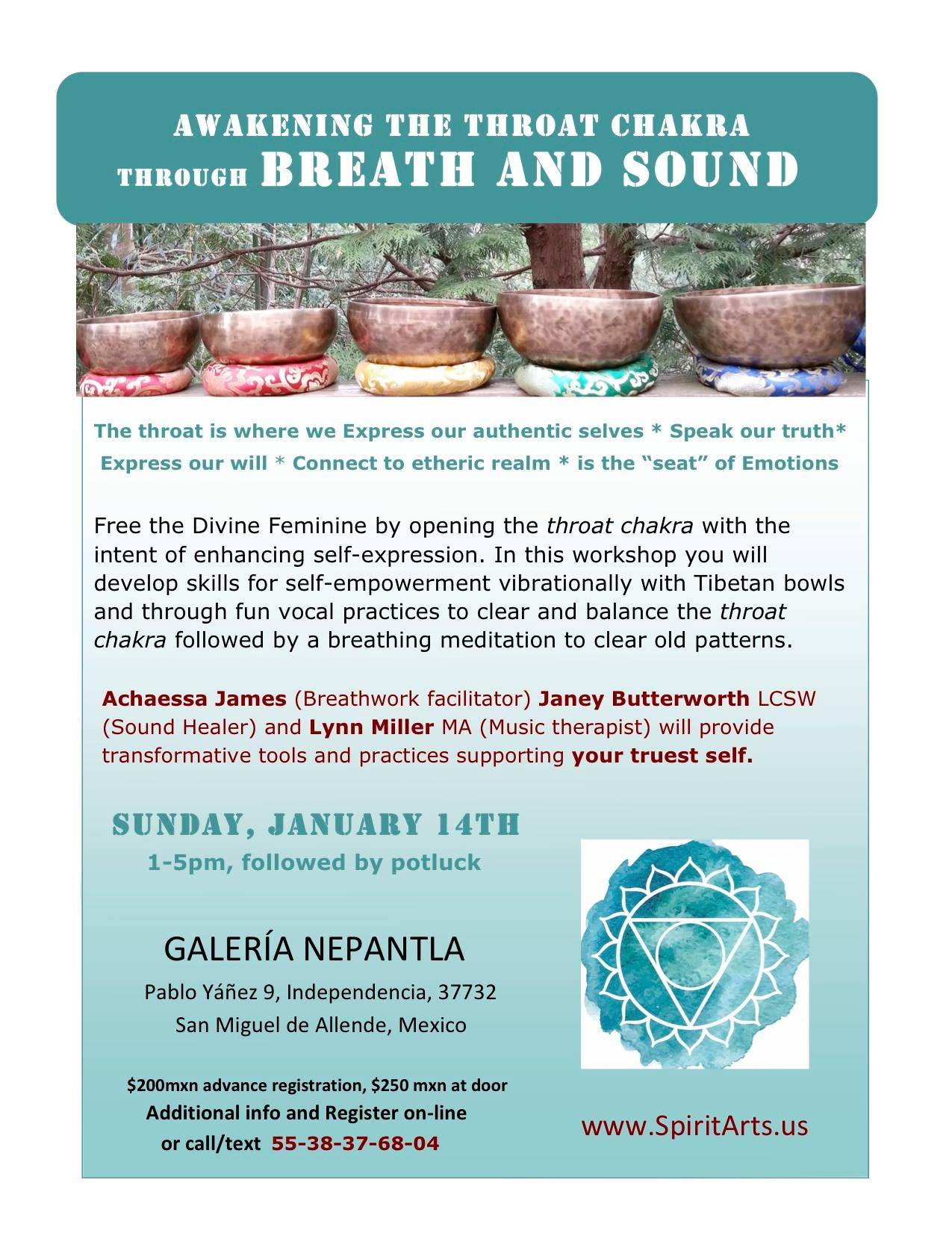 Open Throat Chakra through Breath and Sound | Discover San