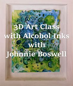 3D Art Class with Alcohol Inks