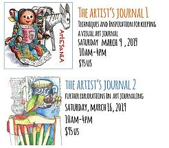Artist's Journal Workshops 2019 || Susan Dorf Contemporary Art