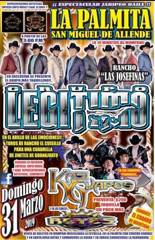 "Jaripeo Baile & ""Grupo Legítimo"" || Lienzo Charro ""Rancho"