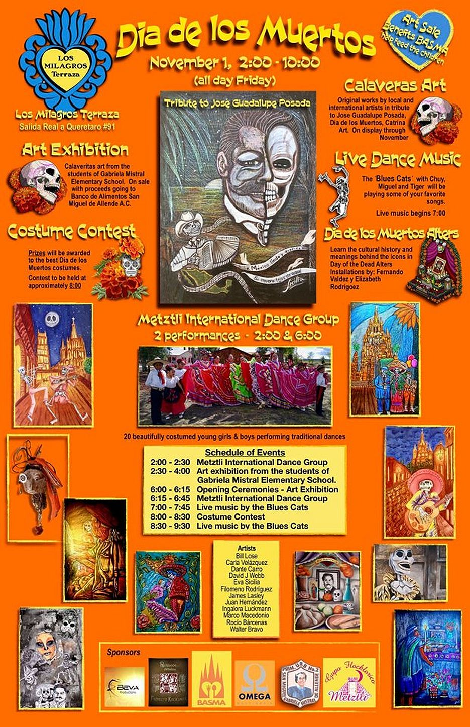Day Of The Dead Celebration Los Milagros Terraza